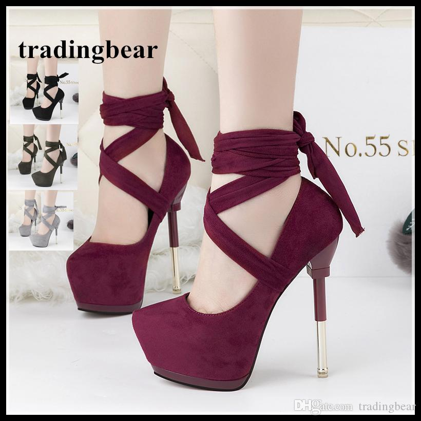 e79cd7265cba6 Sexy High Heel Cross Strappy Pumps Designer Shoes Wine Red Synthetic Suede Wedding  Shoes Mens Dress Boots Men Sandals From Tradingbear