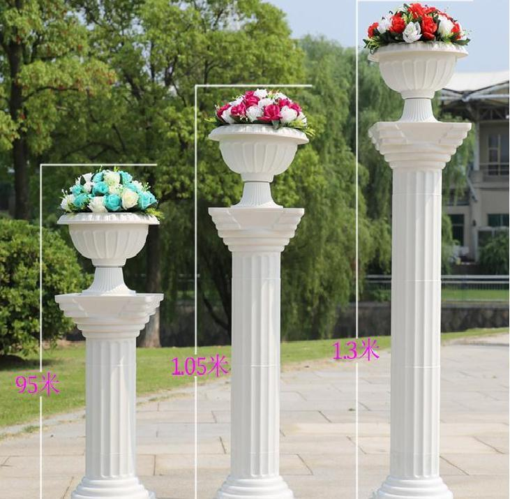 column for wedding decorations wedding decorations white plastic columns road cited 3013