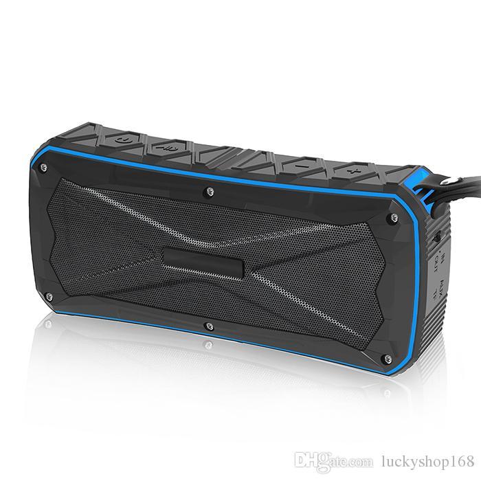 Waterproof Bluetooth Speaker Portable Outdoor Subwoofer with Two Speakers Wireless Music Player Shockproof Dustproof Power Bank Function