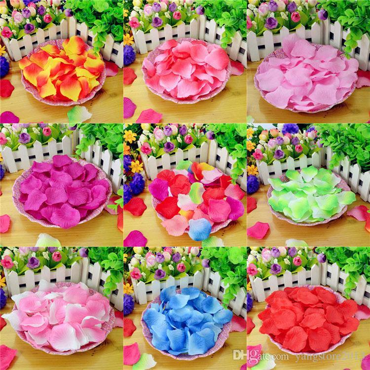 Il trasporto libero / di seta dei petali del fiore della rosa lascia le decorazioni della tabella di cerimonia nuziale Il colore della scelta all'ingrosso Ci sono i totali