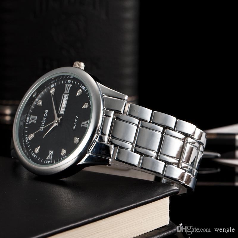 wangle dobroa 2017 New fashion Coppia impermeabile calendario scala romana orologio al quarzo diamante