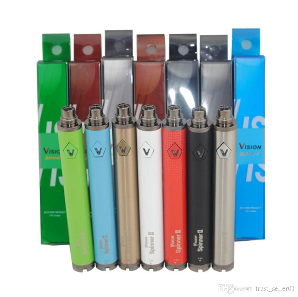 Горячая видение Spinner 2 батареи ecig огромный пара Vape ручка переменной напряжения батареи против закрутки evod МТ3 испаритель подходит эго CE4 атомайзер БДХ