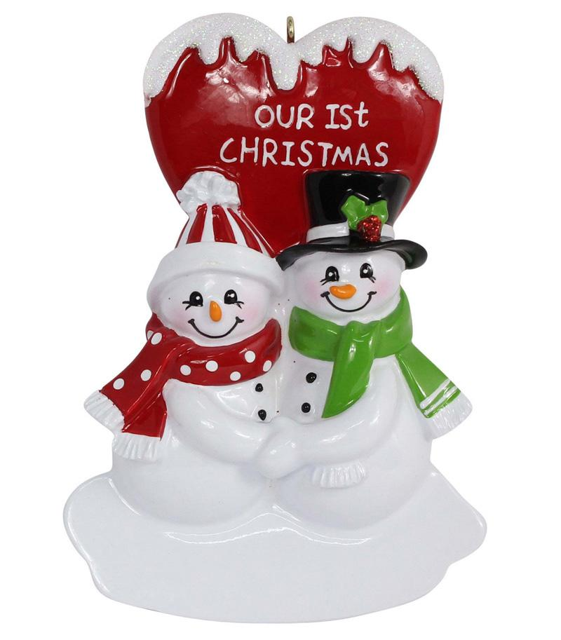 Maxora Our First Christmas Couple Snowman Resin Hanging