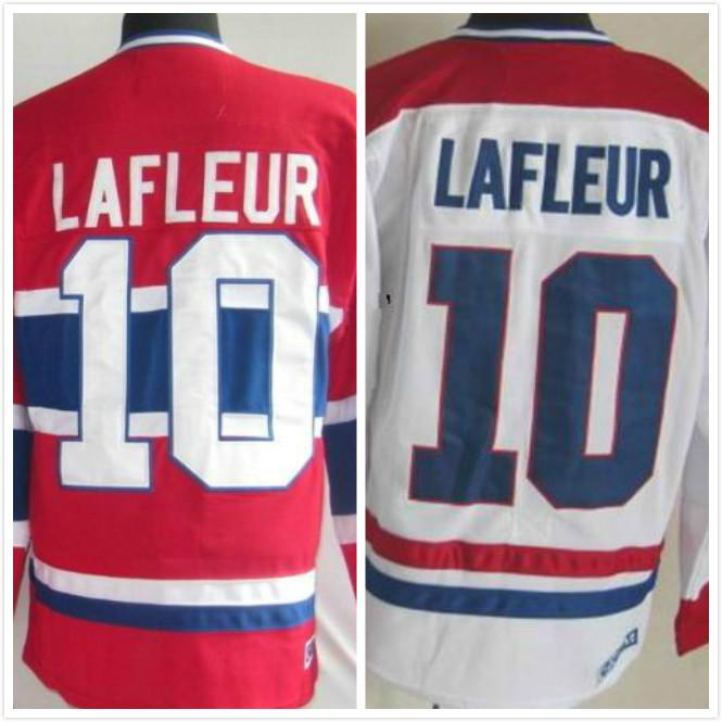 2018 Factory Outlet, Cheap #10 Guy Lafleur Jersey Red White Montreal  Canadiens Lafleur Vintage Throwback Stitched Canadians Home Ice Hockey  Jerse From ...