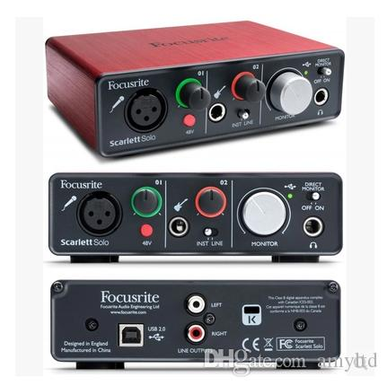 new hot focusrite scarlett solo 2 input 2 output usb audio interface sound card professional for. Black Bedroom Furniture Sets. Home Design Ideas
