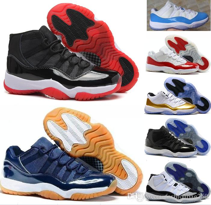 promo code a22a8 d57db Acheter Air Retro 11 Casual Chaussures Hommes Femmes Faible Marine Gomme  Bleu Métallique Or Barons Université Concorde Bleu Varsity Red Space Jam  Casual ...