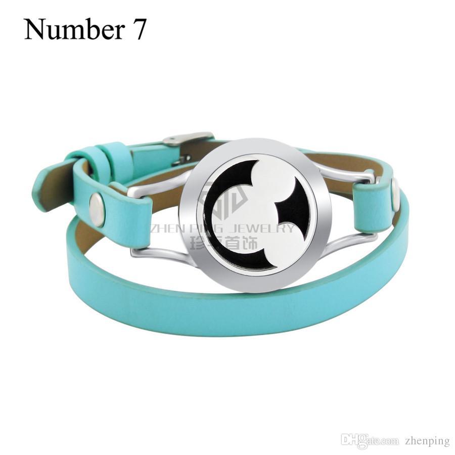 Animal 20mm Huiles Essentielles Médaillon Magnétique En Acier Inoxydable 316L Bracelet En Cuir Véritable Magnétique Arôme Diffuseur Médaillon En Cuir Bracelet