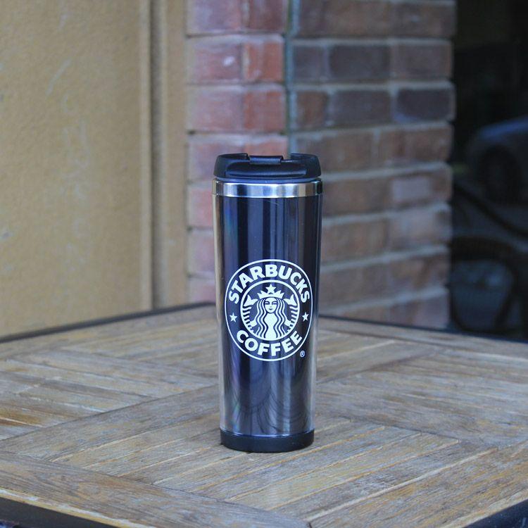 2016 tazas de café Starbucks Juego de tazas de café de doble pared Fashion Cup One Choose Cup Negro Starbucks Copas en stock Envío gratis termo