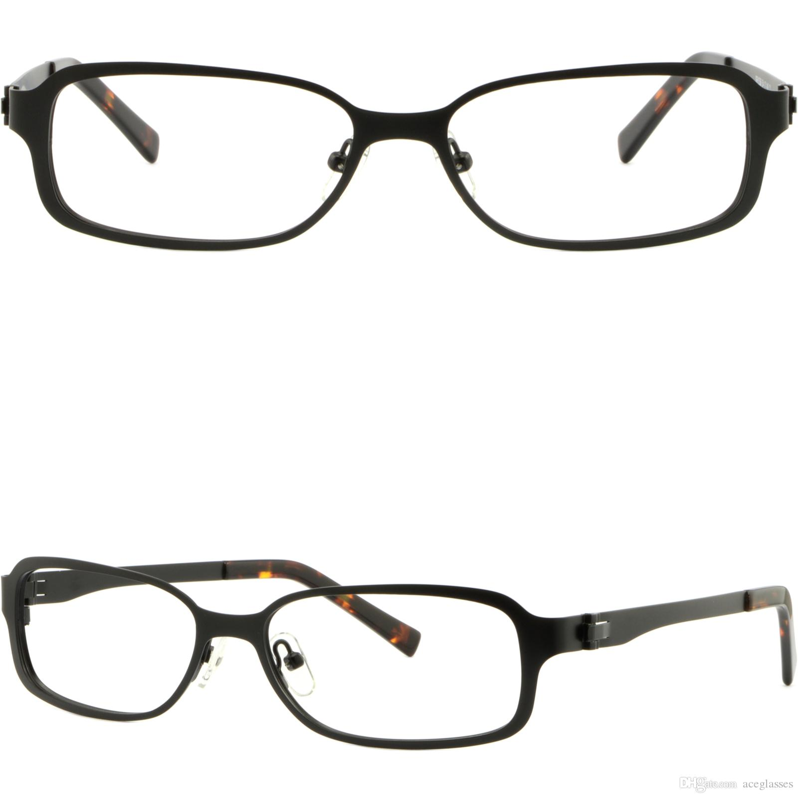 Rectangular Men Women Metal Frame Light Prescription Glasses Rx ...