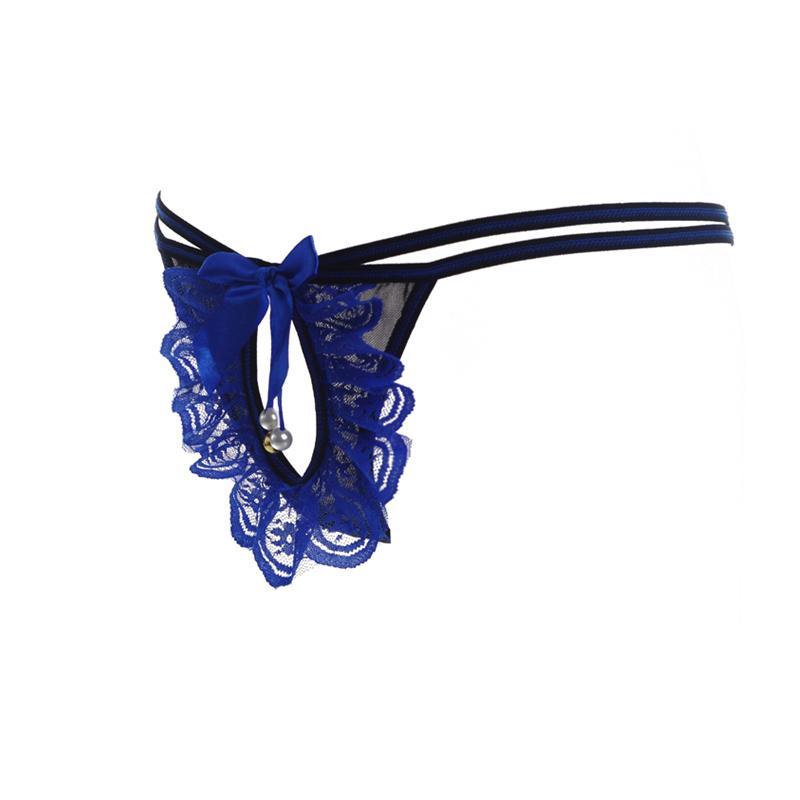 Novidade Design Sexy Lace Mulheres Cueca G-Cordas Tangas Calcinha Erótica Ver Através Expor Bunda Ultra-fina Transparente Tangas Cueca