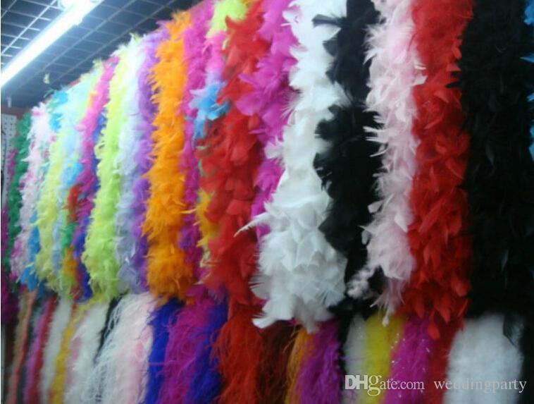 Boa di piume 200 cm burlesque showgirl gallina notte vestito operato da ballo festa accessorio costume da sposa decorazione