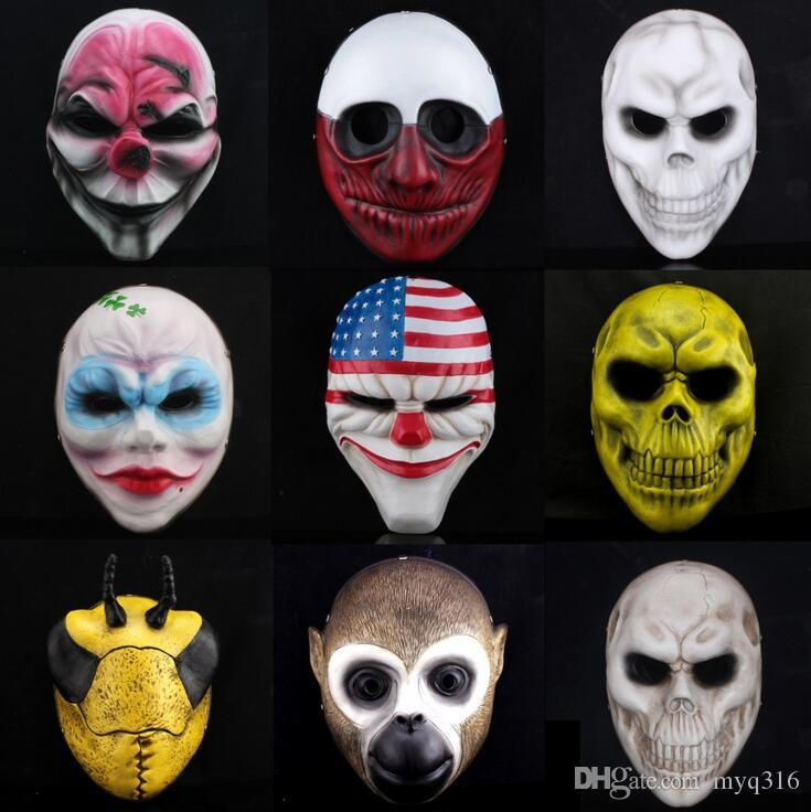 100% Resin Halloween Mask Thin Resin Jabbawockeez Mask Full Face ...