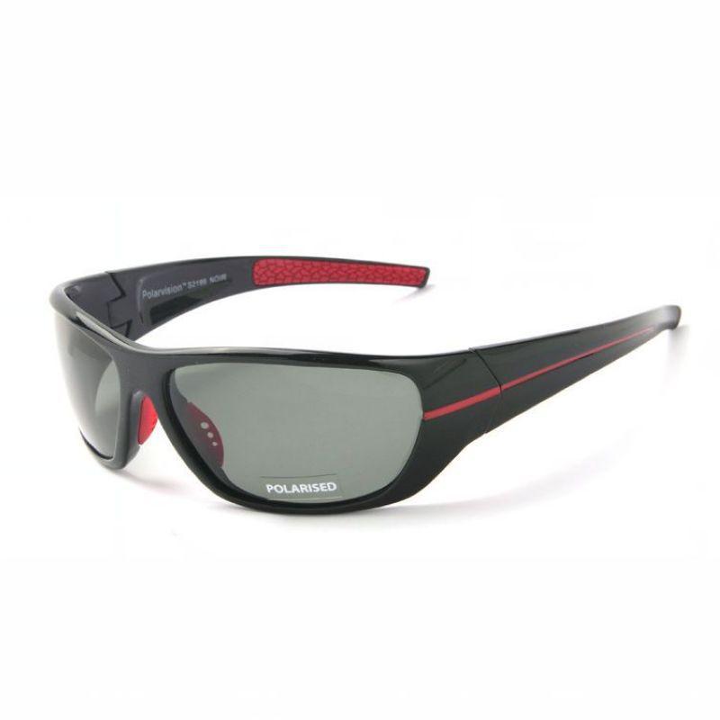 5674196e5ac Polarized Sport Sunglasses For Men Wrap Around Frame TAC Gray Lens Mens  Driving   Fishing   Golf   Baseball Sun Glasses Eyewear Sunglasses Case  Knockaround ...