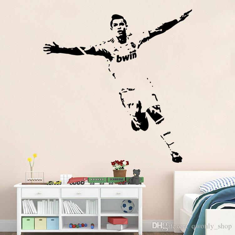 Football Soccer Star Home Decor pegatinas de pared Vinilo de PVC Extraíble Arte Mural decoración del hogar de Fútbol Cristiano Ronaldo