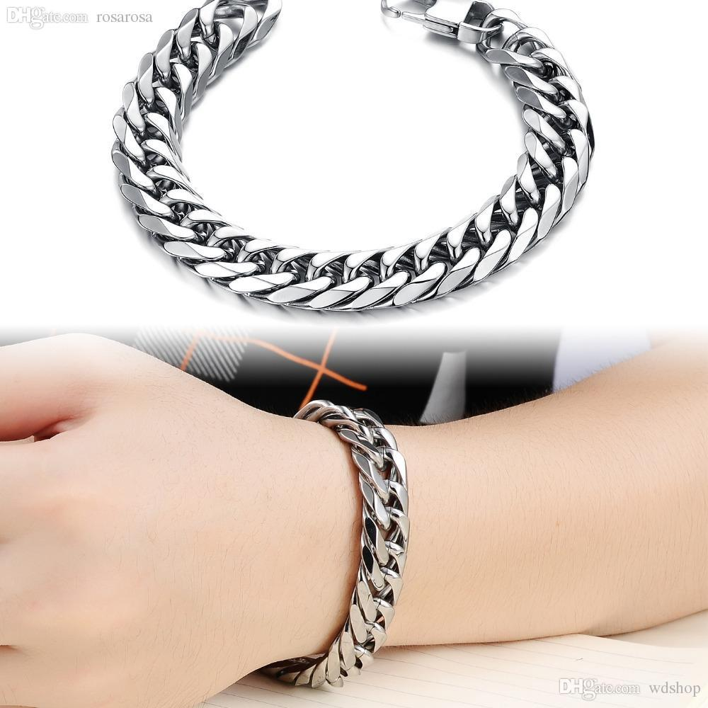 chain from steel mens stainless flat wholesale dhgate com necklace link byzantine product set boys black jewelry bracelet