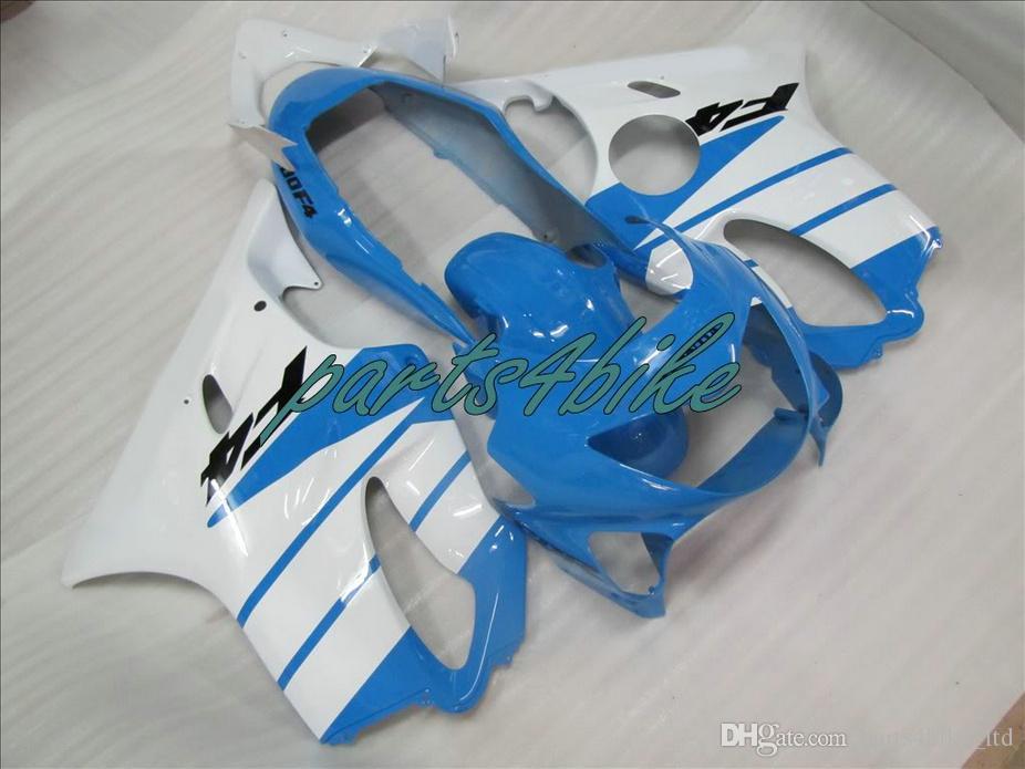 Parti corpo bianco blu chiaro carene Honda CBR 600 F4 1999 2000 kit carene iniezione stampo CBR600 F4 99 00 aftermarket XSC9