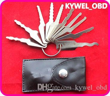 2 takım / paket Pick Kilit aracı çilingir aracı, kilit Çift Jigglers Çift Taraflı Kilit 10 adet için, Çift Jigglers Çift Taraflı Lock10 tuşları