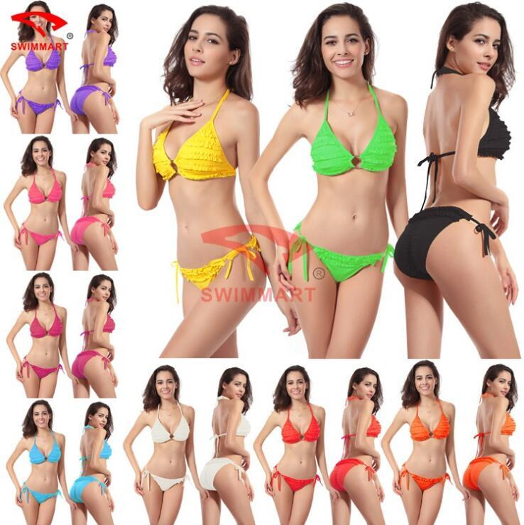 섹시한 수영복 2016 새로운 도착 비키니 세트는 수영복을 밀어 올리십시오 수영복 브래지어 Biquini Maillot De Bain Summer Beachwear 10 색 무료