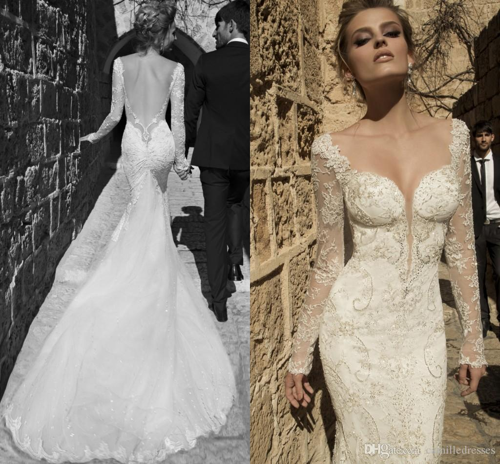 new collection cheap long mermaid lace wedding dresses 2015 long