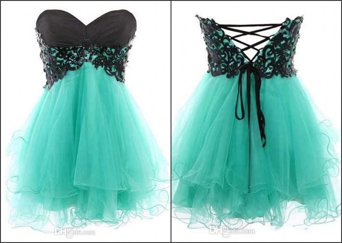 Sweetheart Neckline Lace Up Back Butterfly Corset Short Formal ...