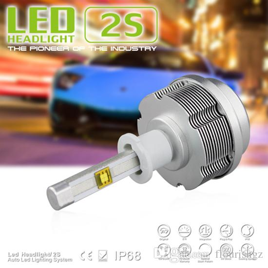 H4 60W CREE / ETI LED 헤드 라이트 2S 올인원 7200lm 12 / 24V 6000K 화이트 30W / Bul 3600lm H1 H3 H7 H8 H9 H10 H11 9005 9006 H6 9004 9007