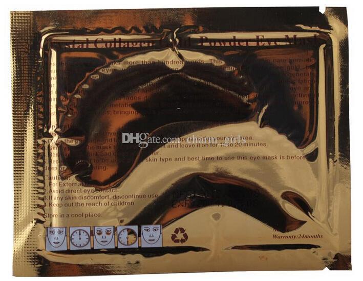 Горячие продаж Кристалл коллаген золотой порошок Eye Маска 50packs=50пары=100шт/много