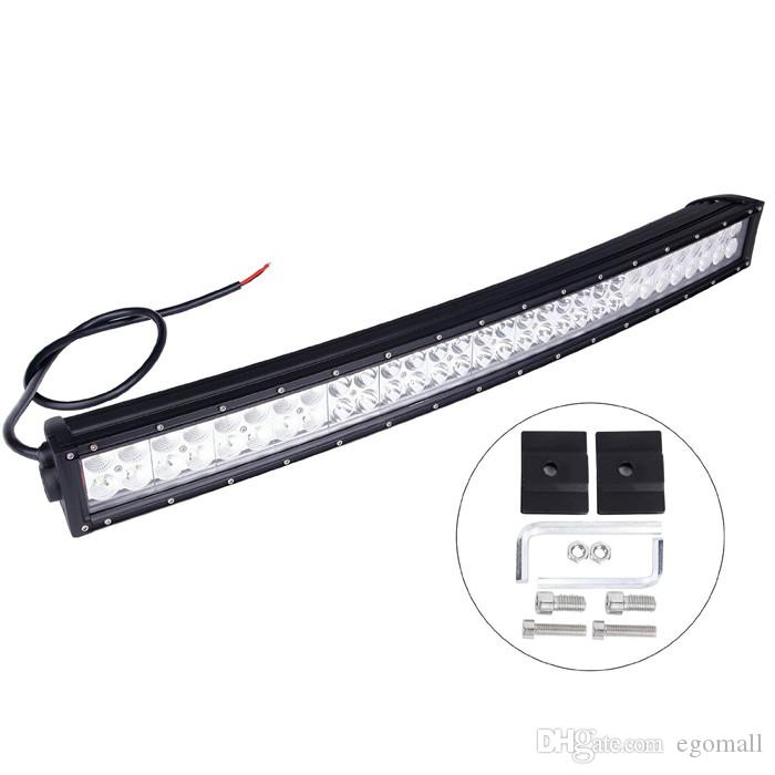 New Arrival 33inch 180W Super bright LED off road light bar Cree Curved LED Work Light Bar Spot Flood beam ffroad Truck 4x4 ATV Lamp