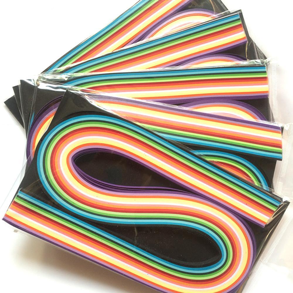Großhandel 800 Streifen Gemischt 16 Farben 5mm Quilling Papier Diy