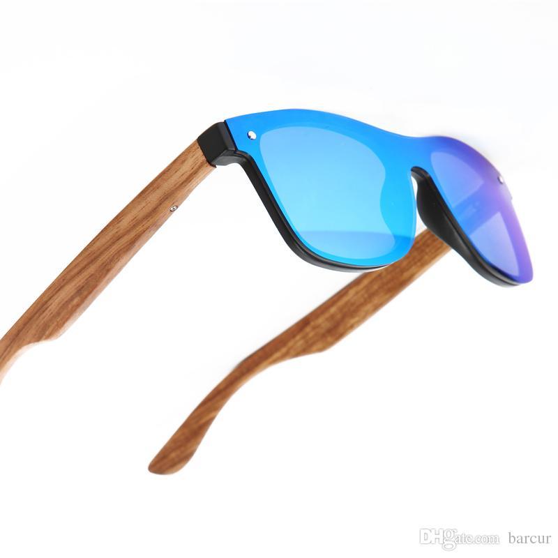6618ef6151de0 Compre BARCUR 2018 Óculos De Madeira Black Walnut Óculos De Sol Acessórios  Óculos Feminino   Masculino Óculos De Sol Sem Aro Para Homens Óculos Lens  Lente ...