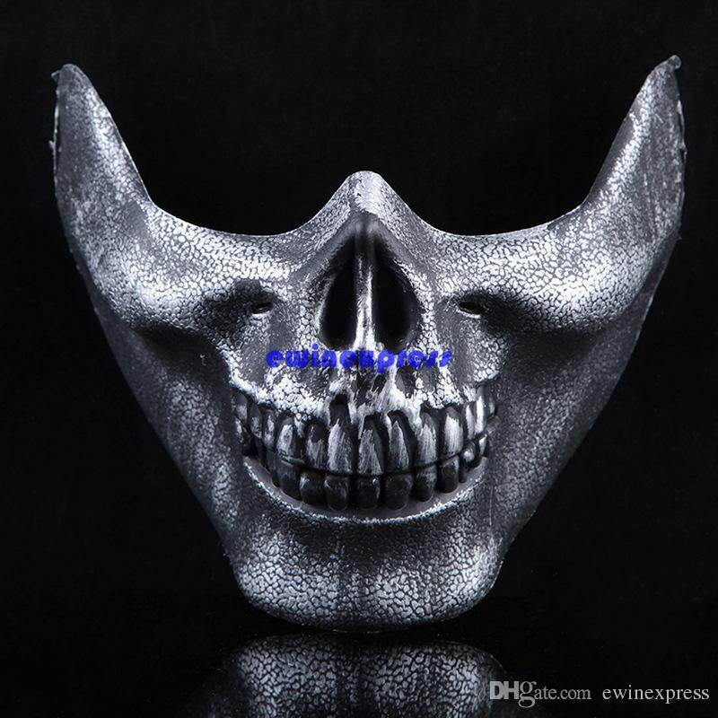 Esqueleto Tático Militar Crânio Metade Máscara Facial Caça Traje Do Partido masquerade máscara cs jogos cosplay adereços