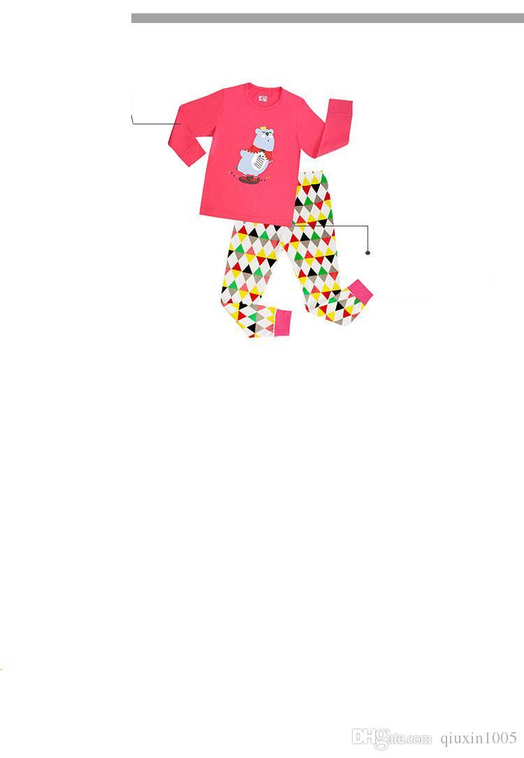 Çocuk Pamuk Uzun Kollu Karikatür Örümcek Adam Pijama Bebek Kız Erkek Superman Pijama çocuk t-shirt + pantolon giyim seti