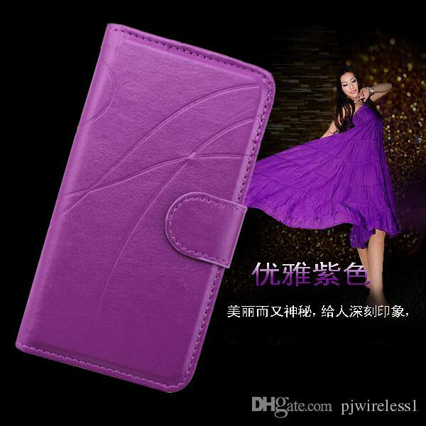 Für HTC Desire 825 für LG K7 LS675 MS330 Tribute 5 K10 F670 Mode Standdesign Glanz Leder-Telefon-Kasten-Abdeckung