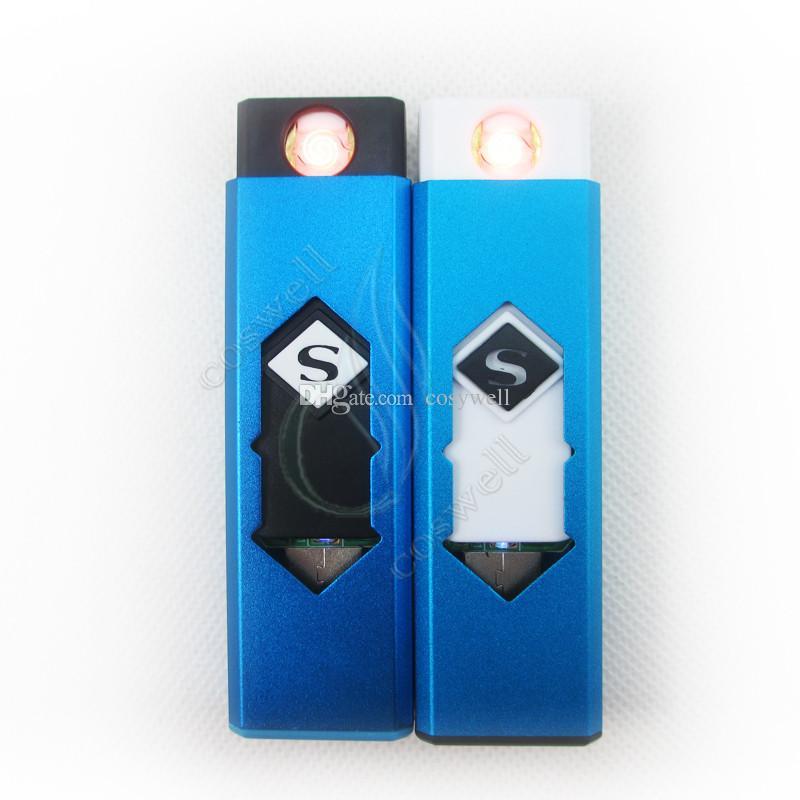 Accendisigari ricaricabile USB Accendisigari senza fiamma ricaricabile elettronico Accendisigari senza fiamma ricaricabile Antivento