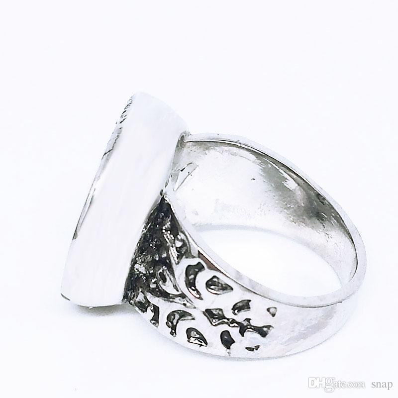 Vente chaude de haute qualité 006 mode bricolage métal réglable bague ajustement gingembre 18mm bouton pression anneaux bijoux charme anneaux pour les femmes