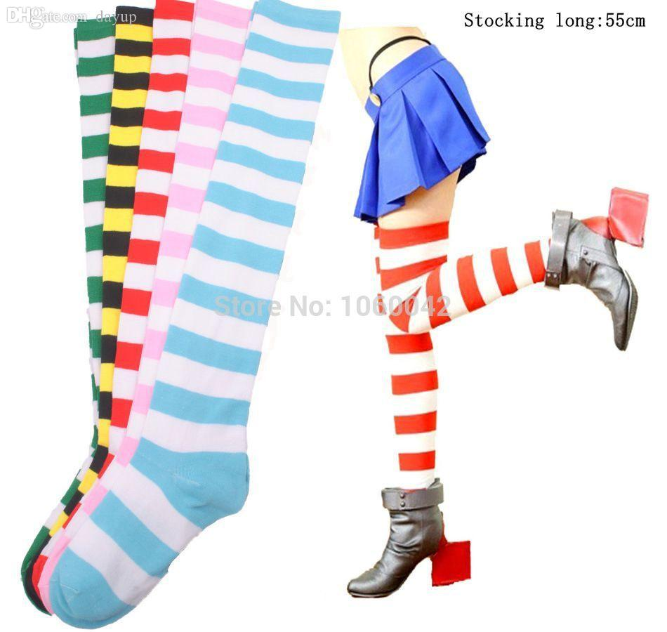 c5910b00c Wholesale-Womens Sexy Over The Knee Socks Autumn Girl Thigh High ...