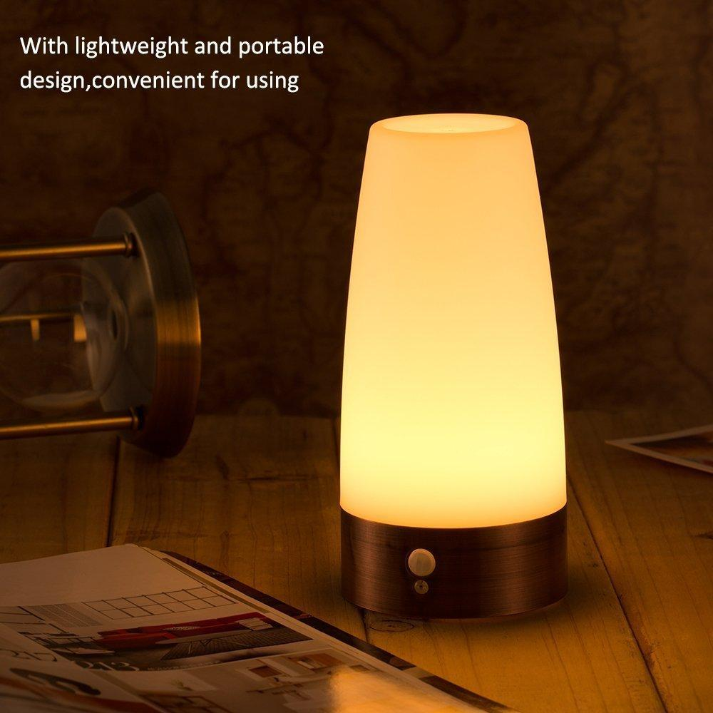Charming Online Cheap Retro Night Light Wireless Pir And Motion Sensor 3 Mode Led  Lamp Portable Indoor Step Light Sensitive With Battery Powered Bedroom  Bathroom By ...