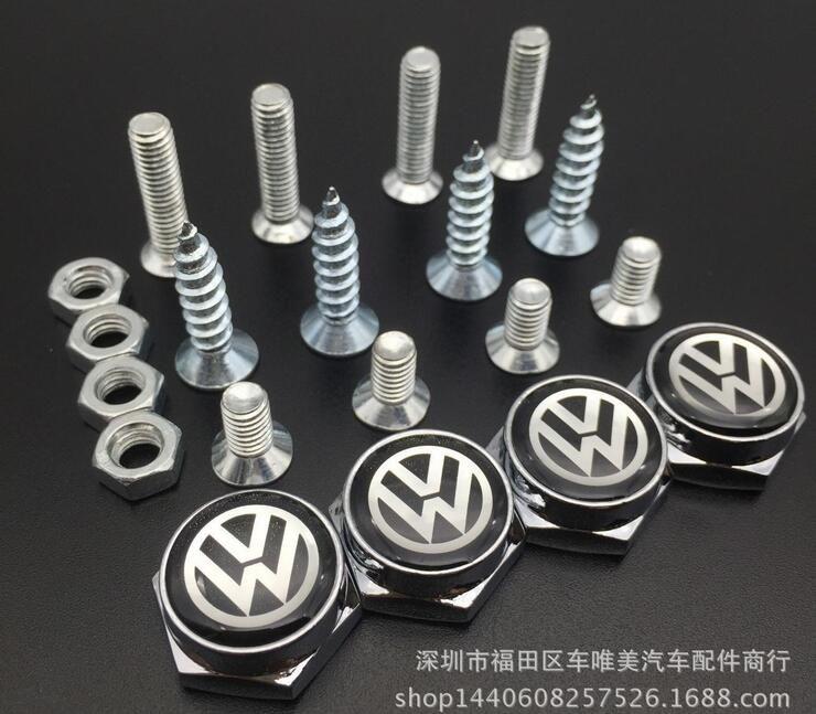 Styling GTI License Bolts Car Logo License Plate Frame Screws Universal for VW Golf Passat CC Bora Jetta Polo Tiguan Touran