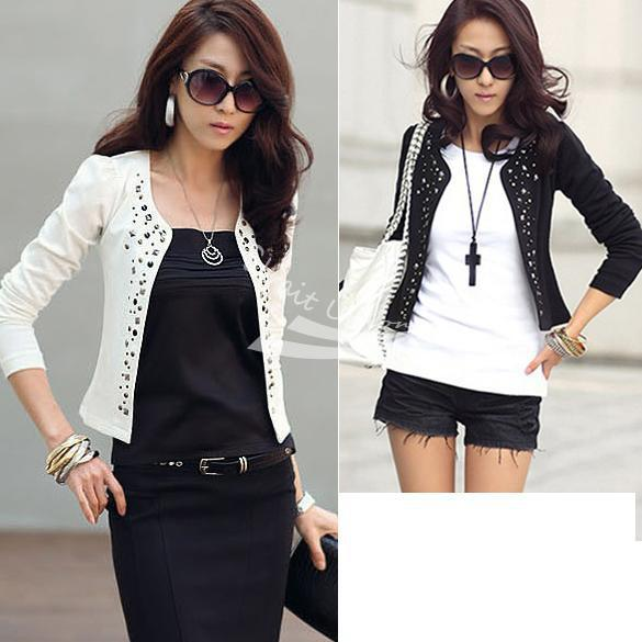 2014 New Lady'S Long Sleeve Shrug Suits Small Jacket Fashion Cool ...
