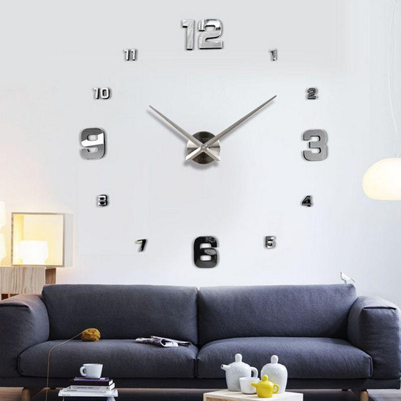 creative designs mirror wall clock large. Fashion 3d Big Size Wall Clock Mirror Sticker Diy Brief Living Room House  Home Beautiful Creative Decor Meetting Contemporary Clocks
