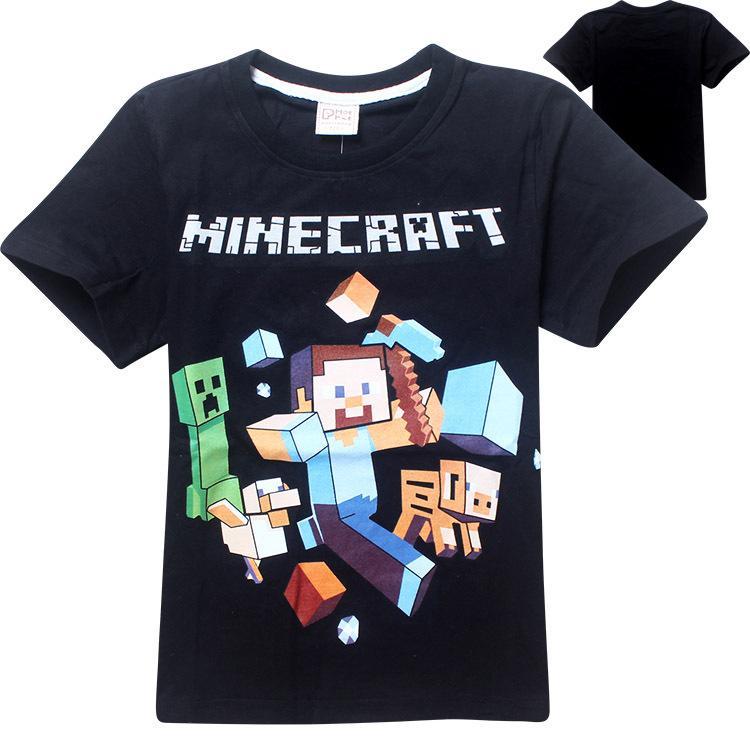 2017 30% Off In Stock 2015 Fashion Kid Minecraft T Shirt Run Away ...