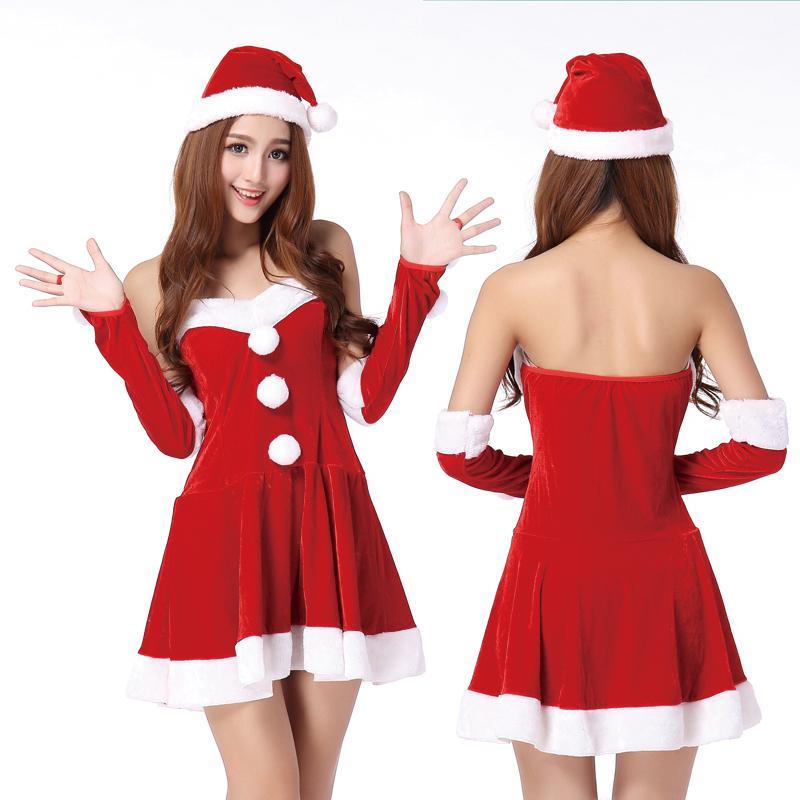 Karoke! - Alle! Doll-collar-christmas-new-sexy-lingerie-skirt