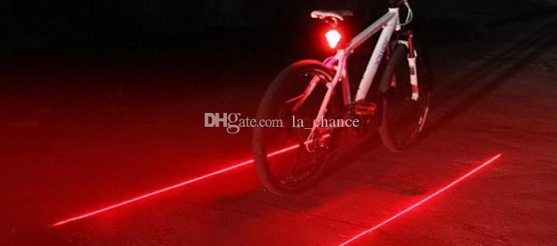 de bicicletas acessórios de bicicletas led Ciclismo Laser luz da cauda de bicicleta 2 Laser + 5 LED, LED Bike Light luz da bicicleta de segurança bycicle