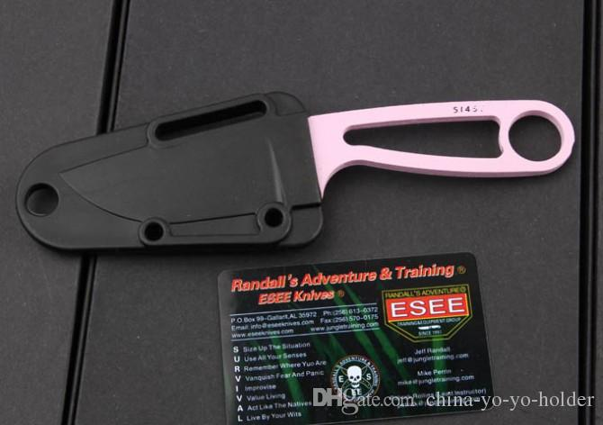 EDC Pocket Knife Randall's Adventure ESEE Izula small Neck Knife Fixed blade Outdoor Camping Hunting knife gift 778L
