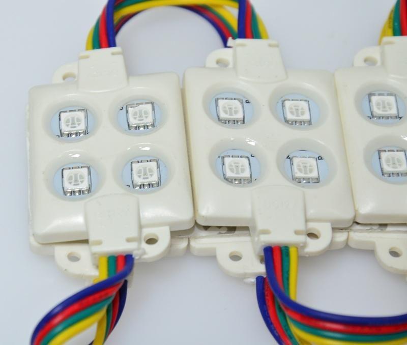 حقن ABS البلاستيك SMD5050 بقيادة وحدة SMD 4 المصابيح DC12V LED RGB وحدة حقن IP67 للماء بقيادة وحدة أضواء الإعلانات رسالة