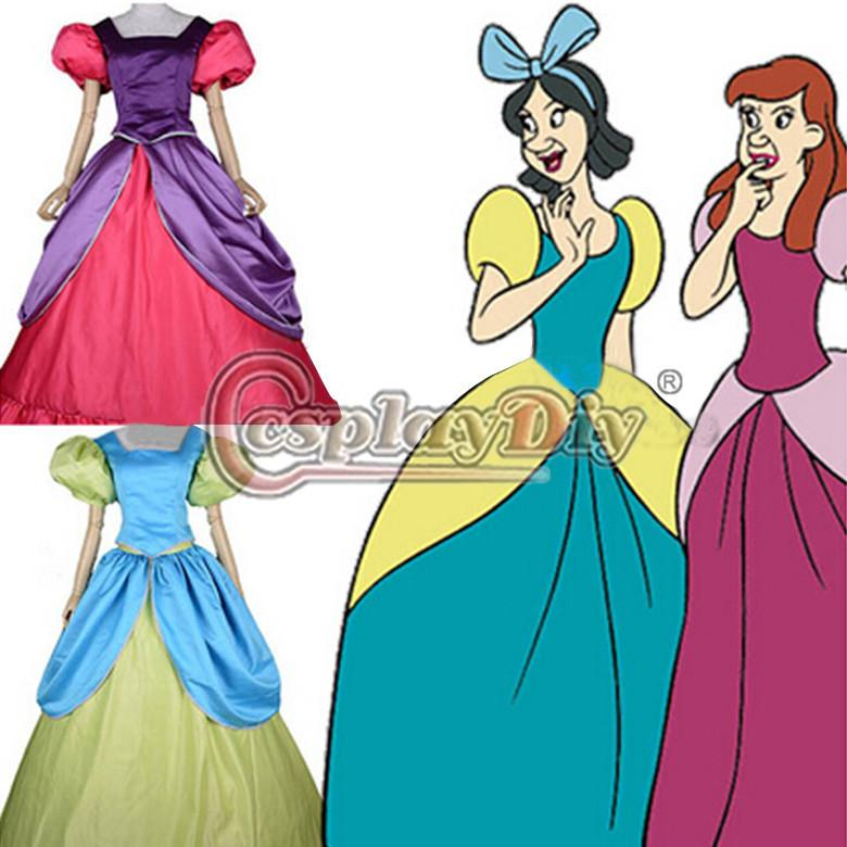 Custom Made Adult Cinderella Stepsisters Sisters Costume Dress Anastasia Fantasy Dress Women For Halloween Plus Size Include Petticoat Group Costume For 4 ...  sc 1 st  DHgate.com & Custom Made Adult Cinderella Stepsisters Sisters Costume Dress ...