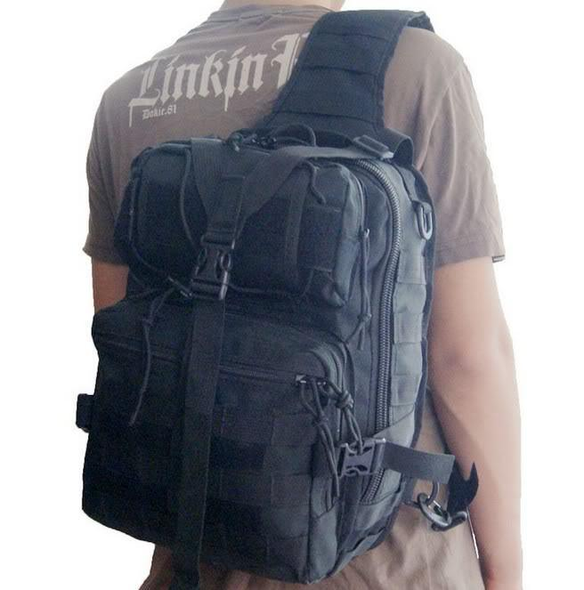 Wholesale Tactical Molle Utility Gear Sling Bag Black Waist Bag ...
