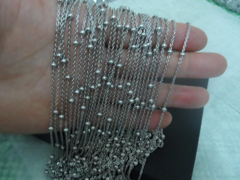 Offerte giornaliere prezzo all'ingrosso 5 metri / lotto argento moda in acciaio inox perline catena di collegamento gioielli fai da te trovare / marcatura donne 4mm palla bene