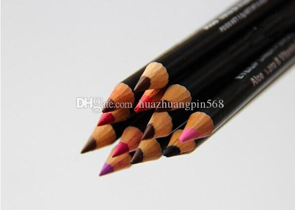 ücretsiz kargo- yeni sıcak makyaj göz / dudak kalemi kalem kaş kalemleri 12 farklı renk /