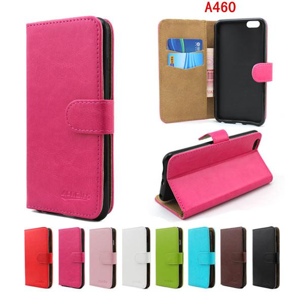 newest 685be d215c crystal grain wallet case for ZTE Blade A460 V220 L3 Plus leather case  ,card slots Case for ZTE Blade V220 A460 L3 Plus