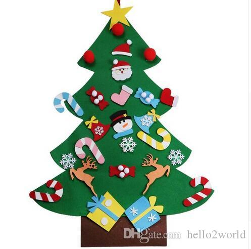 new year gifts kids diy felt christmas tree decorations christmas gifts for 2018 new years door wall hanging ornaments christmas gifts felt christmas tree